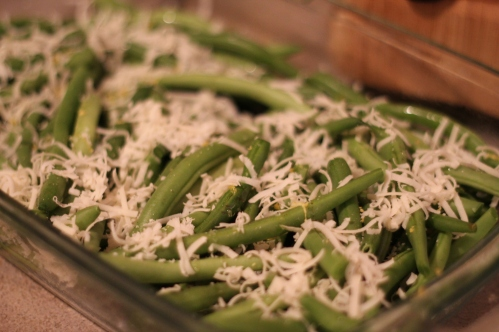 Roasted Green Beans w/ Lemon & Parmesan