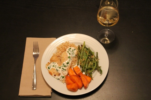 Broiled Tilapia with Mustard Chive Sauce